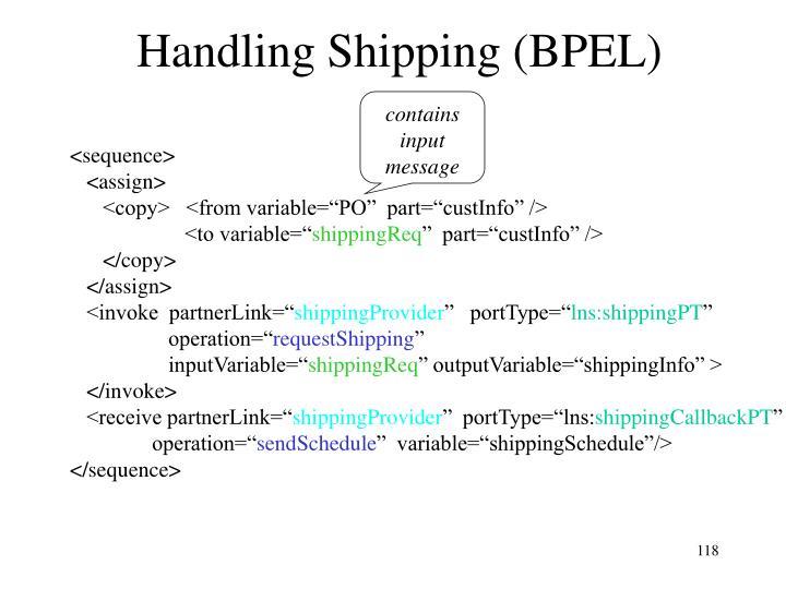 Handling Shipping (BPEL)
