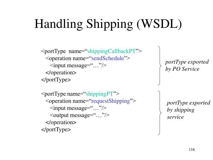 Handling Shipping (WSDL)