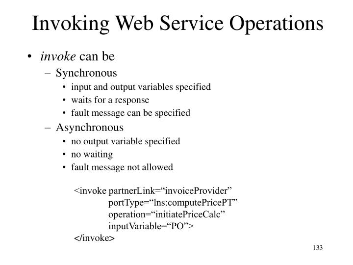 Invoking Web Service Operations