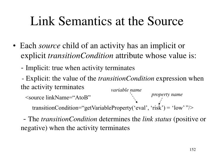 Link Semantics at the Source