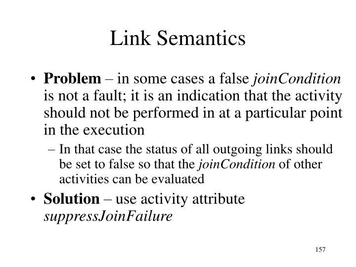 Link Semantics