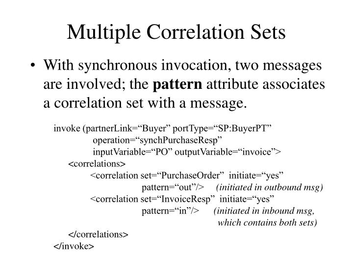 Multiple Correlation Sets
