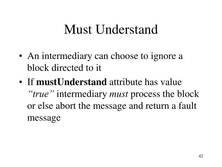 Must Understand