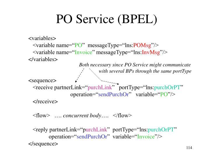 PO Service (BPEL)