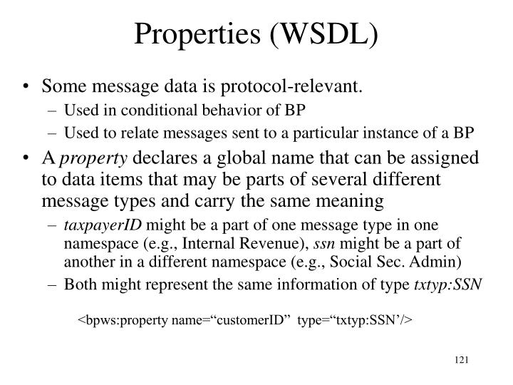 Properties (WSDL)