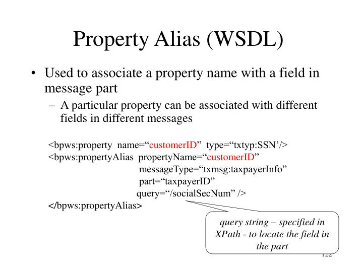 Property Alias (WSDL)
