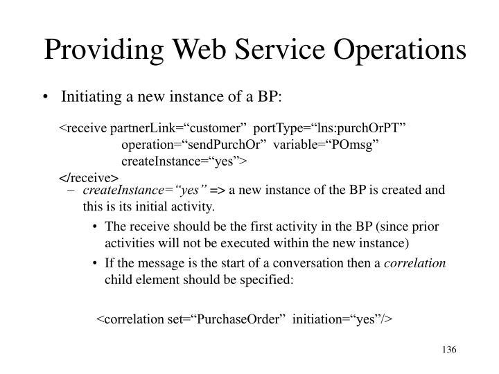 Providing Web Service Operations