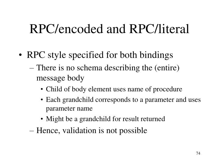 RPC/encoded and RPC/literal