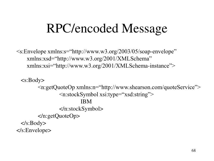 RPC/encoded Message