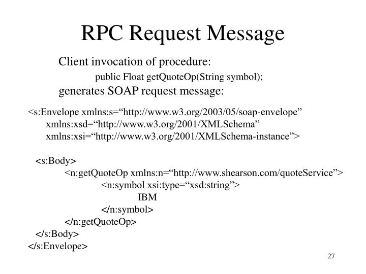 RPC Request Message