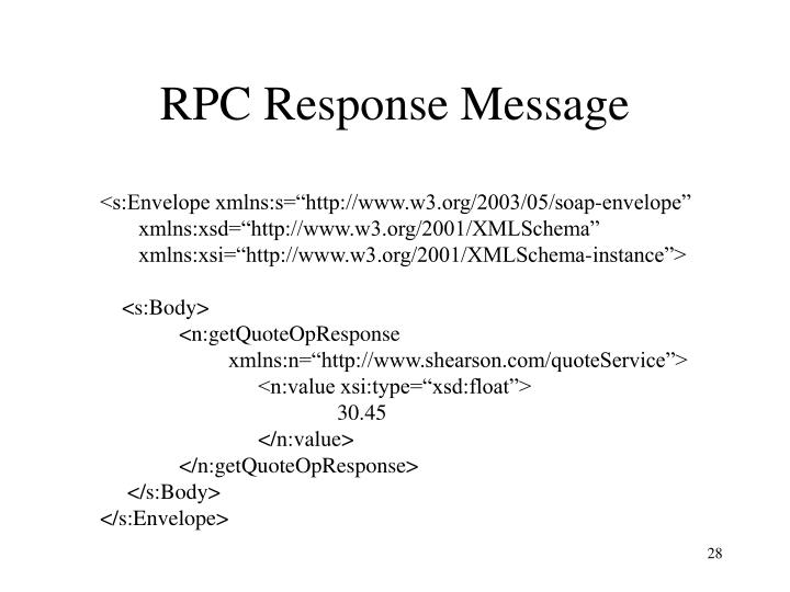 RPC Response Message