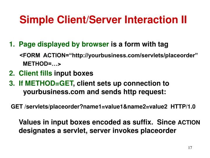 Simple Client/Server Interaction II