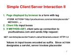 simple client server interaction ii
