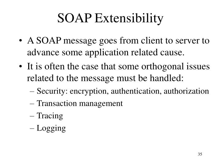 SOAP Extensibility