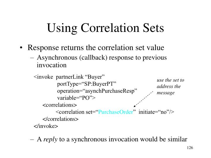 Using Correlation Sets