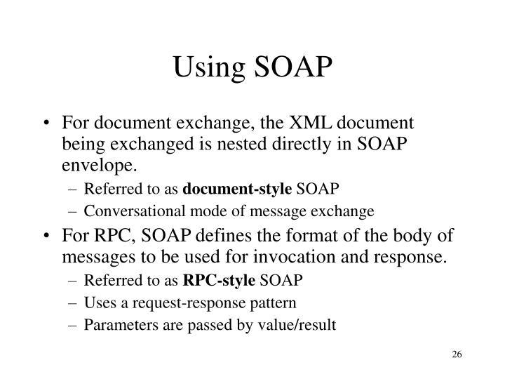 Using SOAP