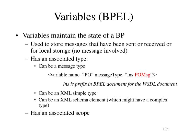 Variables (BPEL)