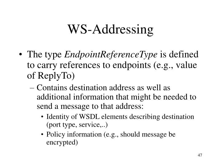 WS-Addressing