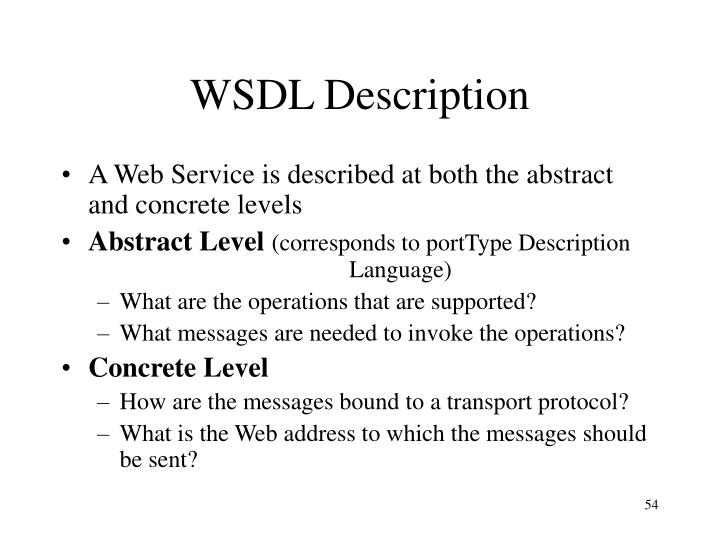 WSDL Description