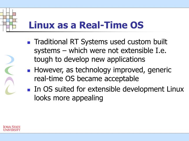 Linux as a real time os