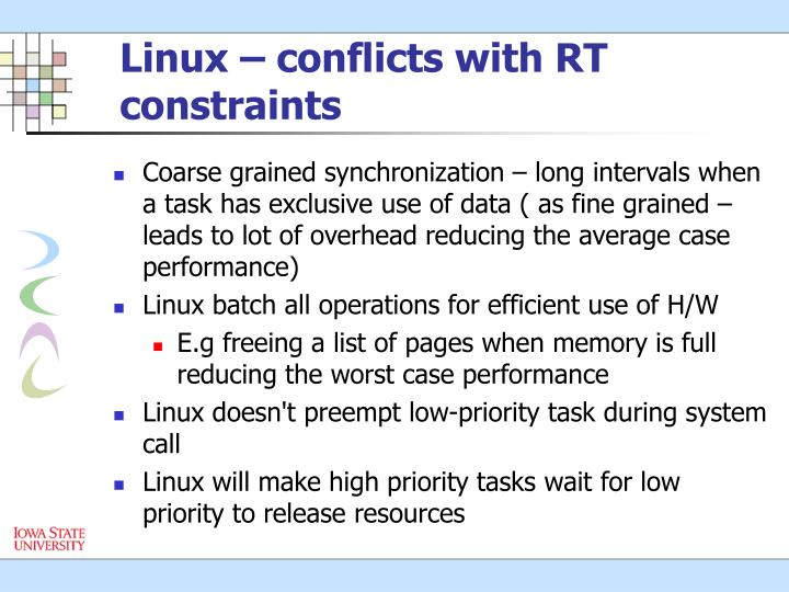 Linux – conflicts with RT constraints