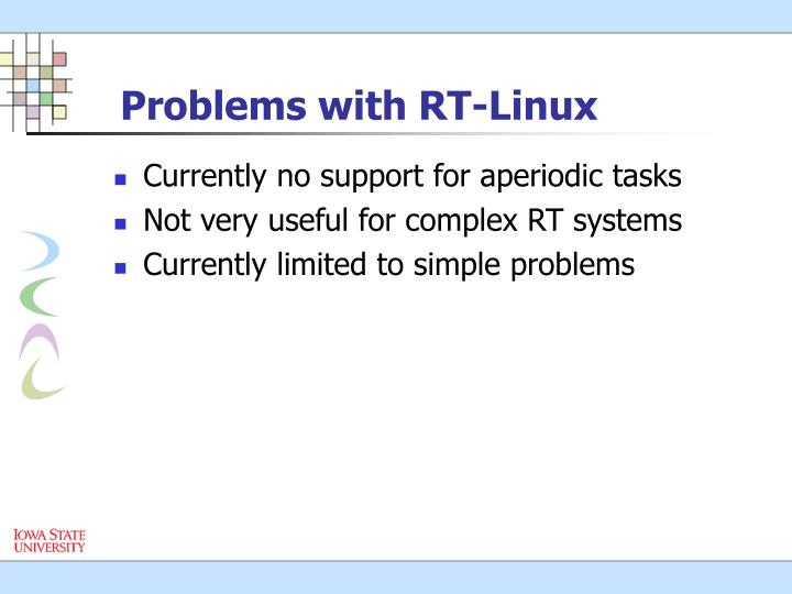 Problems with RT-Linux