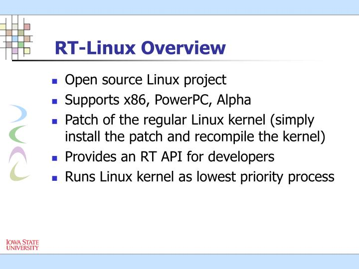 RT-Linux Overview