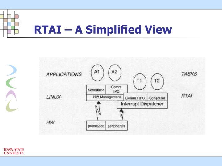 RTAI – A Simplified View