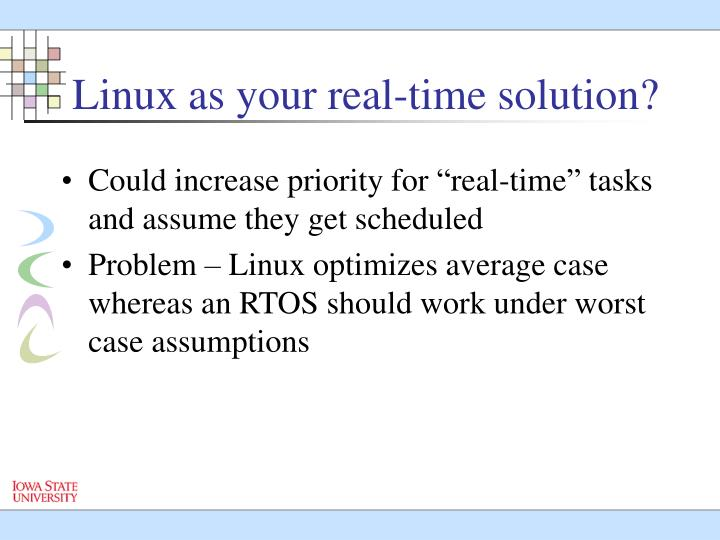 Linux as your real-time solution?