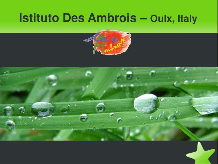 Istituto des ambrois oulx italy