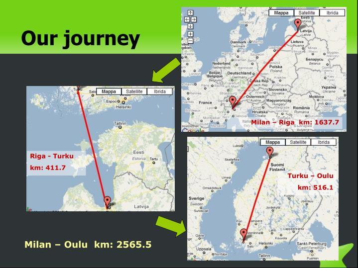 Milan – Riga  km: 1637.7