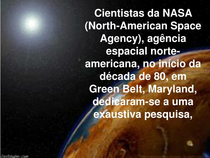 Cientistas da NASA (North-American Space Agency), agncia espacial norte-americana, no incio da d...