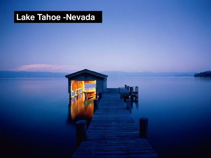 Lake Tahoe -Nevada