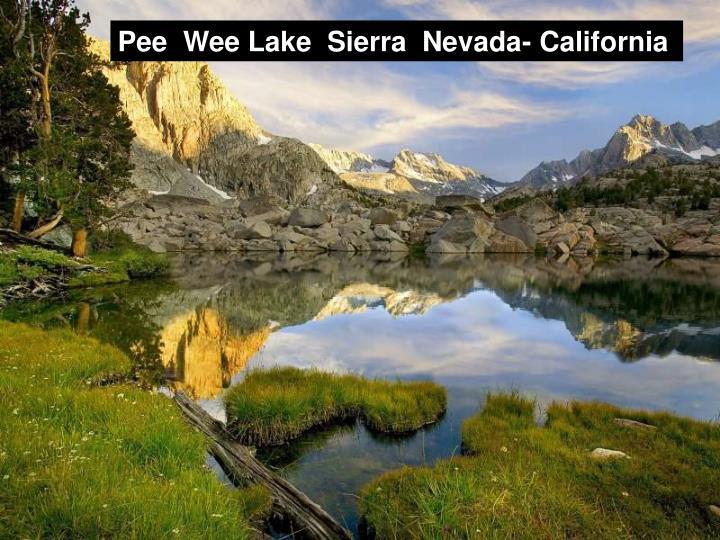 Pee  Wee Lake  Sierra  Nevada- California