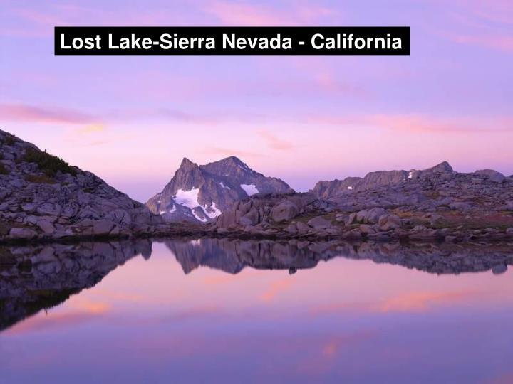Lost Lake-Sierra Nevada - California
