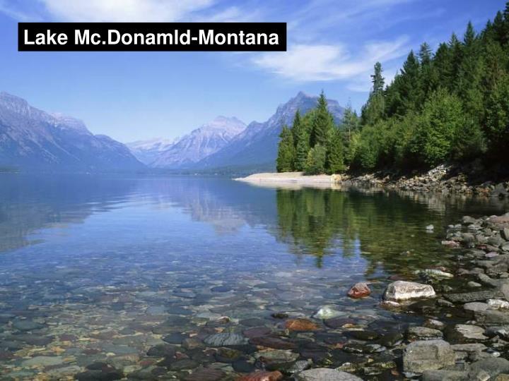 Lake Mc.Donamld-Montana