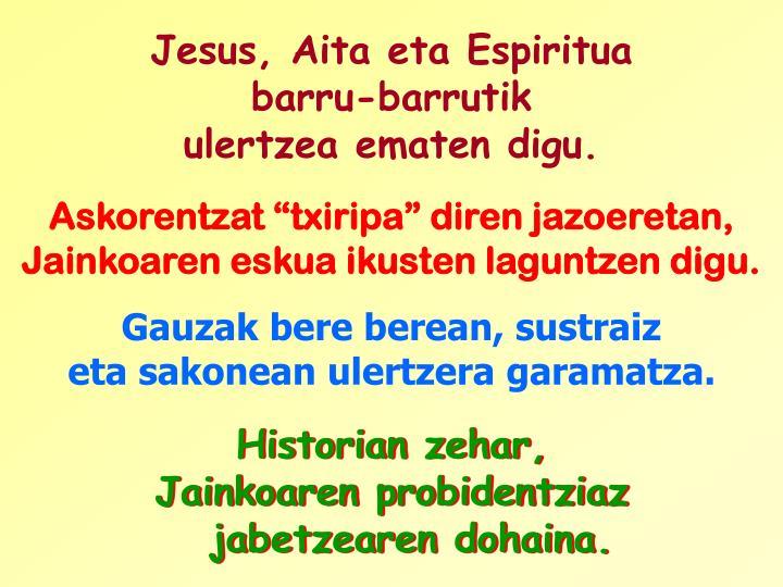 Jesus, Aita eta Espiritua