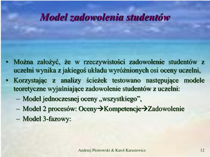 Model zadowolenia studentów