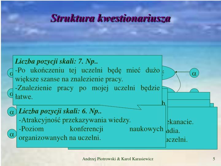 Struktura kwestionariusza