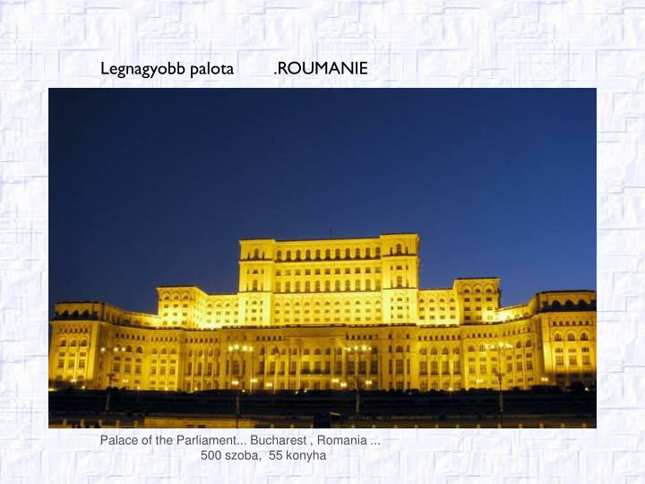 Palace of the Parliament... Bucharest , Romania ...