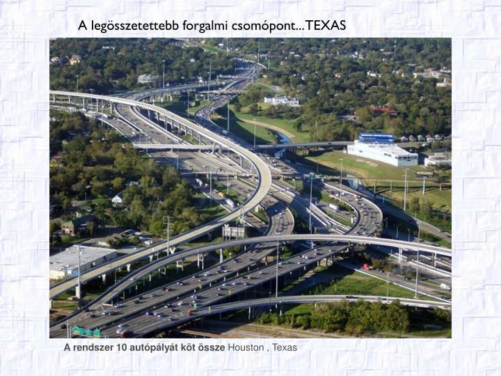 A rendszer 10 autópályát köt össze