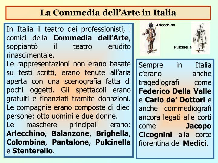 La Commedia dell'Arte in Italia