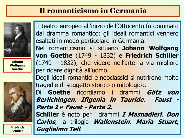 Il romanticismo in Germania