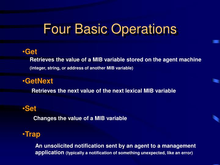 Four Basic Operations