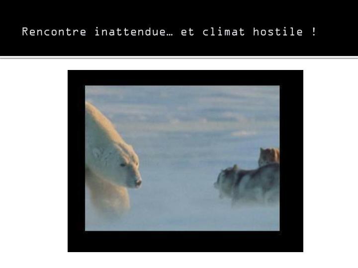 Rencontre inattendue… et climat hostile !
