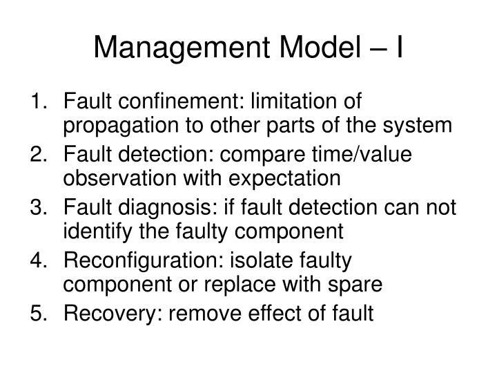 Management Model – I