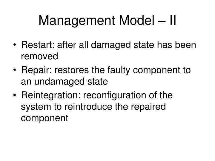 Management Model – II