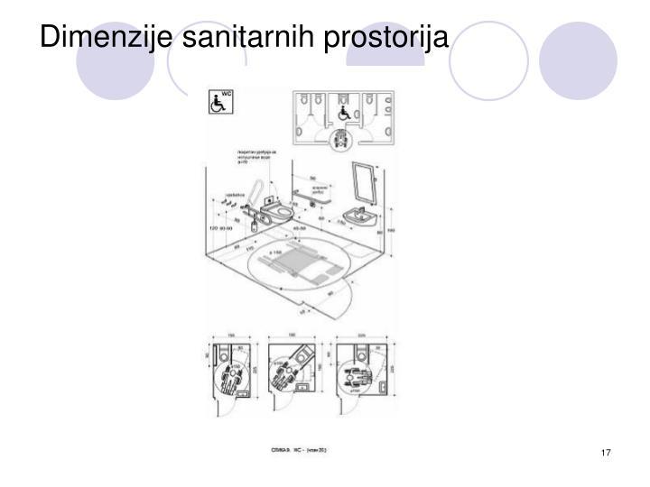 Dimenzije sanitarnih prostorija