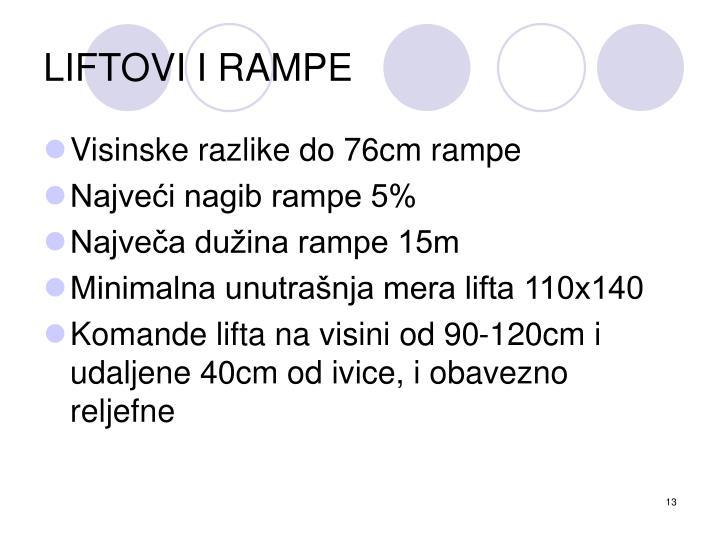 LIFTOVI I RAMPE