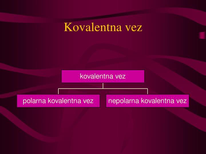 Kovalentna vez